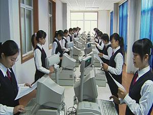 石家庄财会学校模拟收银实训室